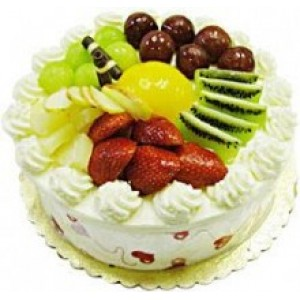 Eggless Fresh Fruit Cake