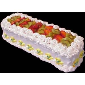 Fruit cart cake