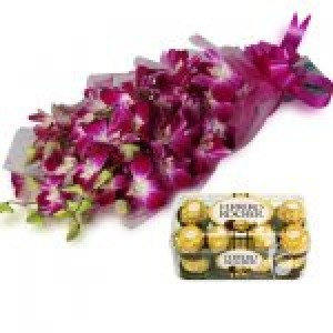 Orchid with Chocolates