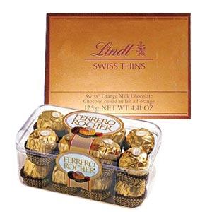 Lindt and Ferrero Rocher