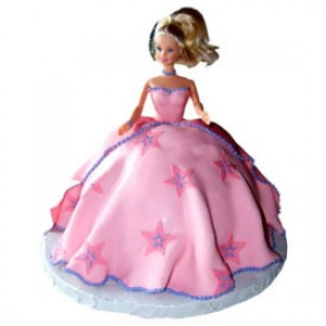 Barbie Cake 2.5 Kgs
